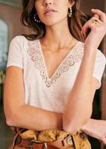 t shirt blanc sezane