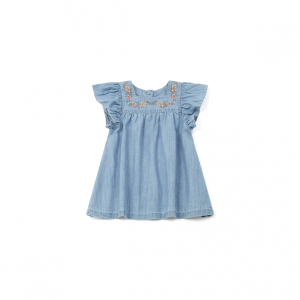 bonton robe chambray
