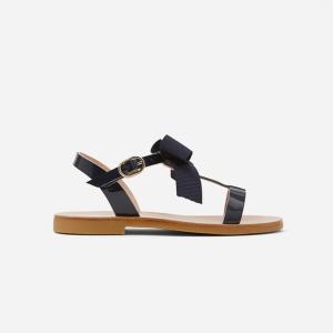 fille sandale noeud