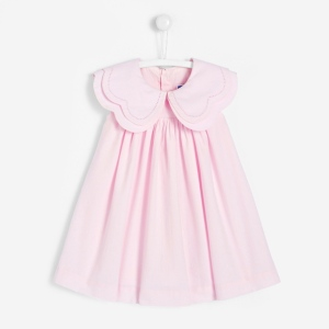 petite fille robe col large