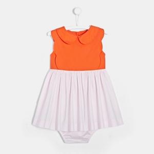petite fille robe color block